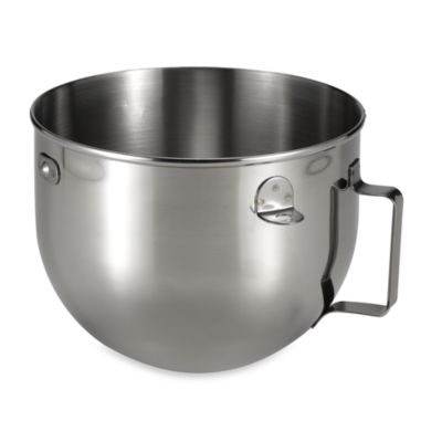 KitchenAid® 5-Quart Polished Stainless Steel Narrow Bowl with Handle
