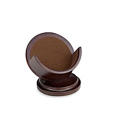 Dark Walnut Pedestal Coaster Holder