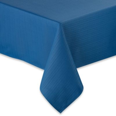 Fiesta® Zig Zag 70-Inch Round Tablecloth in Lapis