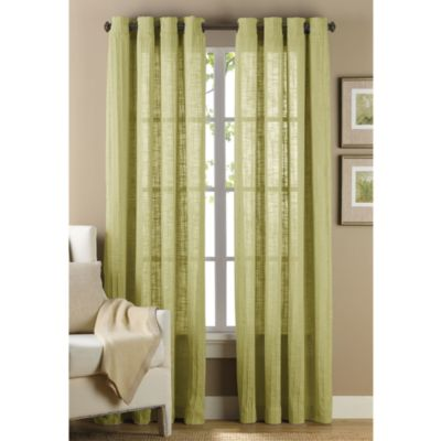 B. Smith Origami Grommet 63-Inch Window Curtain Panel in Green