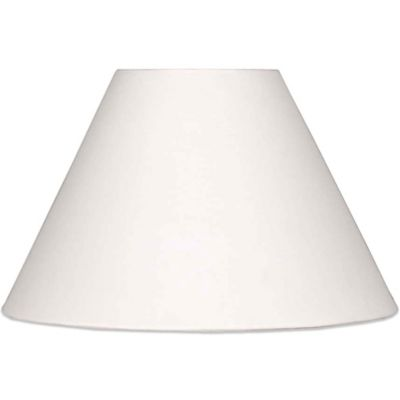 Mix & Match Large 17-Inch Hardback Linen Lamp Shade in White
