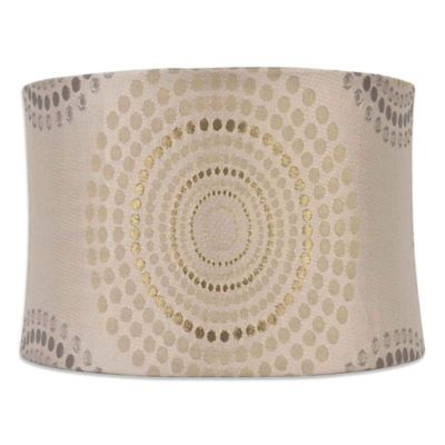 Mix & Match Medium 14-Inch Metallic Geometric Softback Lamp Shade in Silver