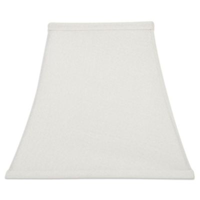 Mix & Match Large 13-Inch Square Corner Lamp Shade in White