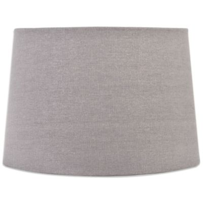 Grey Burlap Lamp Shade Drum Lamp Shade in Grey
