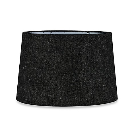 buy mix match large 15 inch hardback drum lamp shade in black from. Black Bedroom Furniture Sets. Home Design Ideas