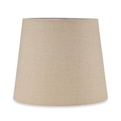 Mix & Match Large 13-Inch Hardback Burlap Drum Lamp Shade in Oatmeal