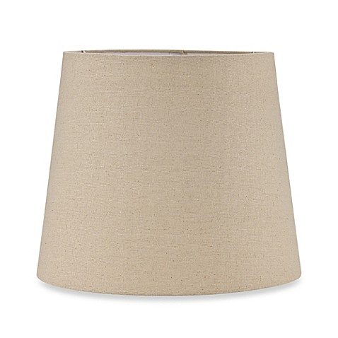 mix match large 13 inch hardback burlap drum lamp shade in oatmeal. Black Bedroom Furniture Sets. Home Design Ideas