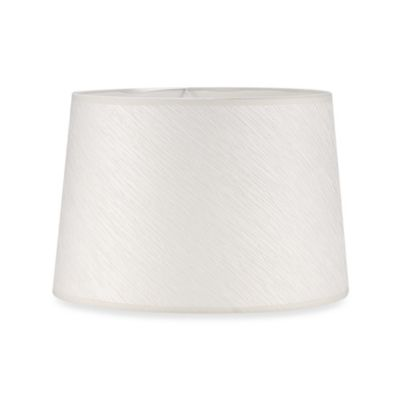 Mix & Match Large 15-Inch Crinkle Paper Hardback Drum Lamp Shade in White