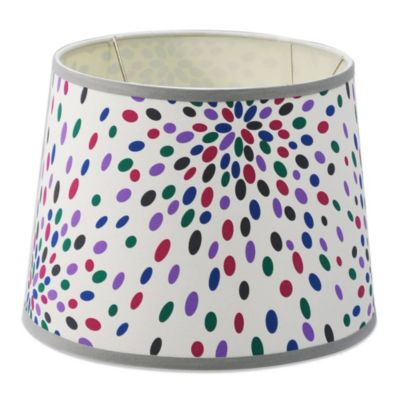 Mix & Match Medium 12-Inch Dotted Drum Lamp Shade in Multicolor