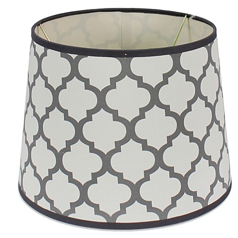 buy mix match medium 10 inch quatrefoil drum lamp shade. Black Bedroom Furniture Sets. Home Design Ideas