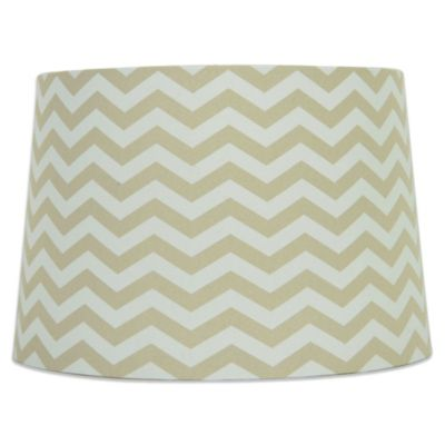 Taupe/White Lamp Shades