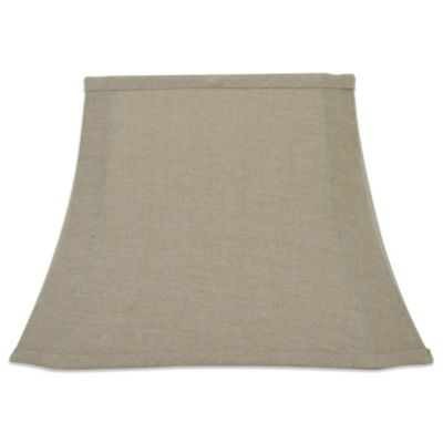Mix & Match Medium 17-Inch Cut-Corner Lamp Shade in Tan