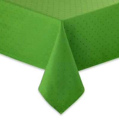 Green Jacquard Tablecloth