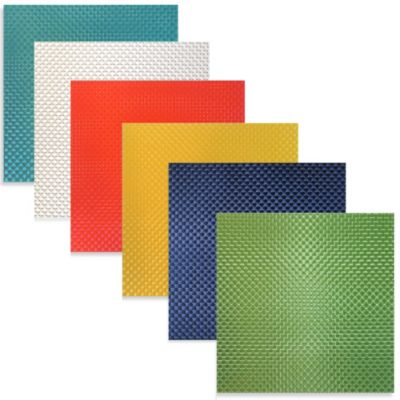 Bistro Square Vinyl Placemat in Green
