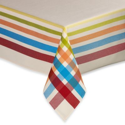 Fiesta® Plaid 70-Inch Round Tablecloth
