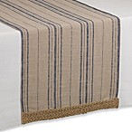 French Stripe Table Runner with Jute Trim