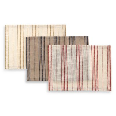 French Stripe Placemats with Mitered Corners