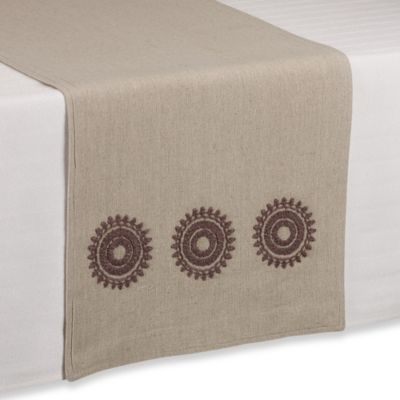 Medallion Embroidery Table Runner