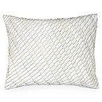 DKNY Metro Floral Pleated Toss Pillow in Vanilla