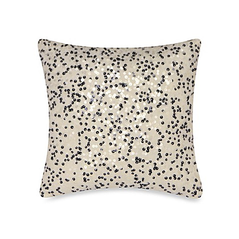 DKNY Metro Floral Sequin Toss Pillow