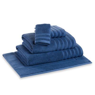 DKNY Luxe Bath Towel in Denim