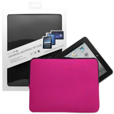 "Universal 10.1"" Tablet Neoprene Zipper Case in Pink"