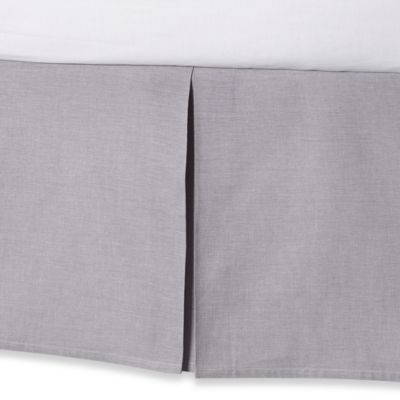 Real Simple® Soleil Twin Bed Skirt in Grey