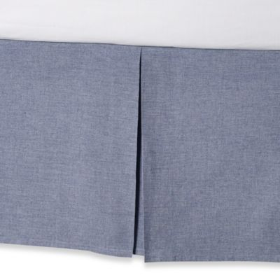 Real Simple® Soleil King Bed Skirt in Navy