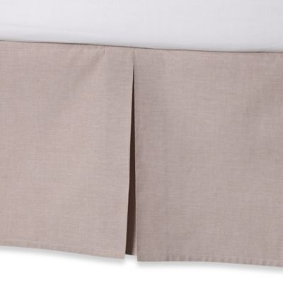 Real Simple® Soleil Twin Bed Skirt in Khaki