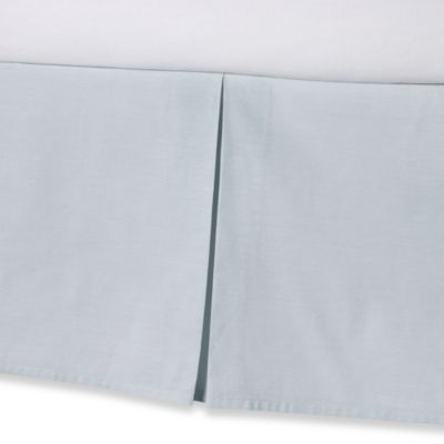 Real Simple® Soleil Twin Bed Skirt in Aqua