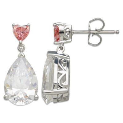Gemma with Love™ made with Swarovski® Zirconia Sterling Silver Pear Drop Earrings