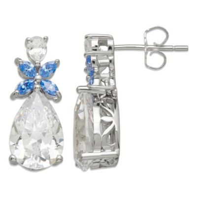 Gemma with Love™ made with Swarovski® Zirconia Sterling Silver Flower drop Earrings