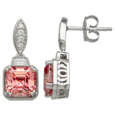 Gemma with Love™ made with Swarovski® Zirconia Sterling Silver Square Drop Earrings