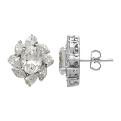 Gemma with Love™ made with Swarovski® Zirconia Sterling Silver Flower Stud Earrings