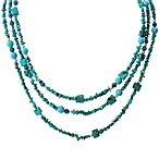 Genuine Turquoise 3-Row Layered Necklace