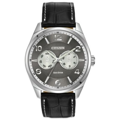 Citizen Eco-Drive Men's Dress Watch with Leather Strap