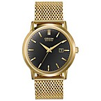 Citizen Men's Eco-Drive Goldtone Mesh Watch