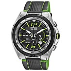 Citizen Men's Eco-Drive BRT Green Watch with Leather Strap