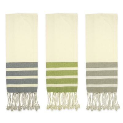 Green Linen Kitchen Towels