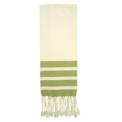 Green Linen Towels