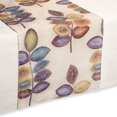 Croscill® Mosaic Leaves Table Runner