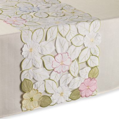 Sam Hedaya Springtime 53-Inch Table Runner