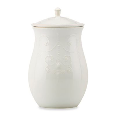 Lenox® French Perle Cookie Jar in White
