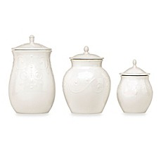 Lenox® French Perle 3-Piece Canister Set in White