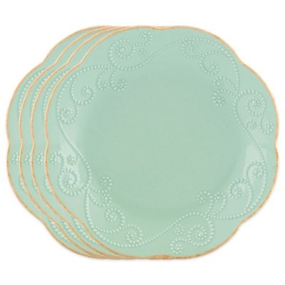Lenox® French Perle Dessert Plates in Ice Blue (Set of 4)
