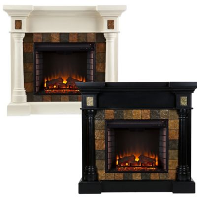 Southern Enterprises Carrington Convertible Electric Fireplace in Black