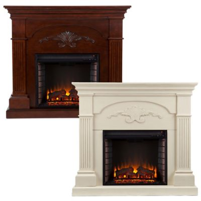 Southern Enterprises Sicilian Harvest Electric Fireplace in Mahogany