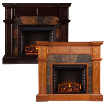 Southern Enterprises Cartwright Electric Fireplace in Oak