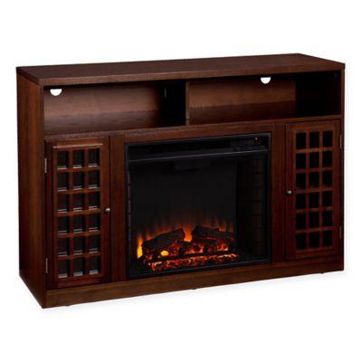 Southern Enterprises Narita Electric Fireplace Media Console in Espresso