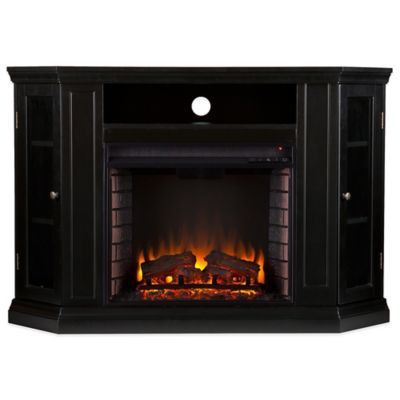 Southern Enterprises Claremont Convertible Media Fireplace in Black